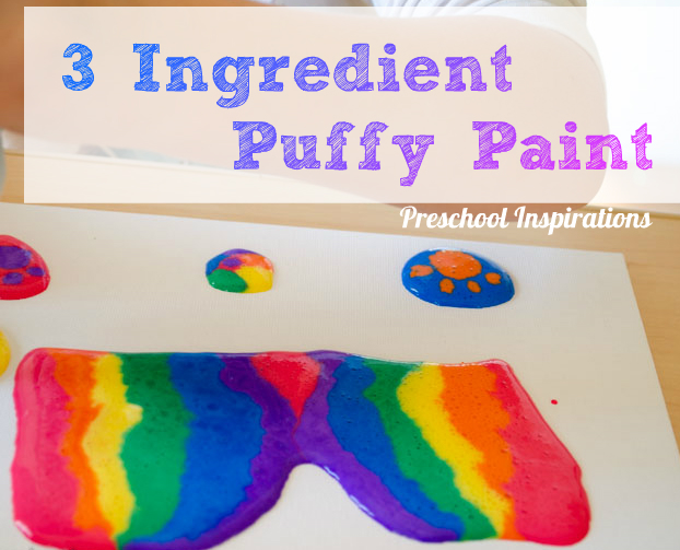 3 Ingredient Puffy Paint Recipe and Canvas Art-4
