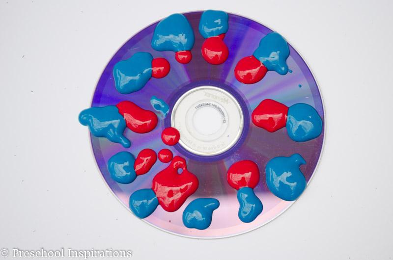 CD Process Art - Preschool Inspirations