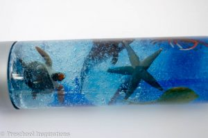 Ocean Creature Discovery Bottle - Preschool Inspirations-5