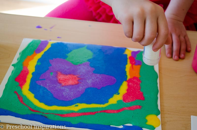 Puffy Paint Recipe and Canvas Art-2