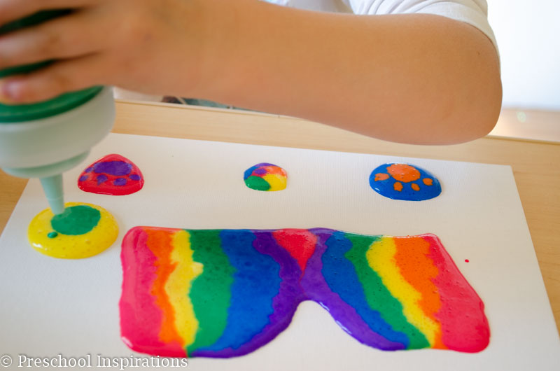 Puffy Paint Recipe and Canvas Art-4