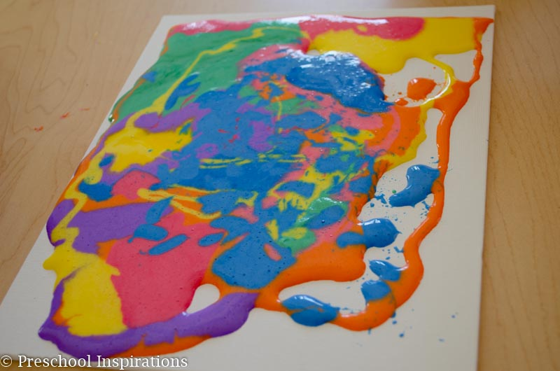 Puffy Paint Recipe and Canvas Art