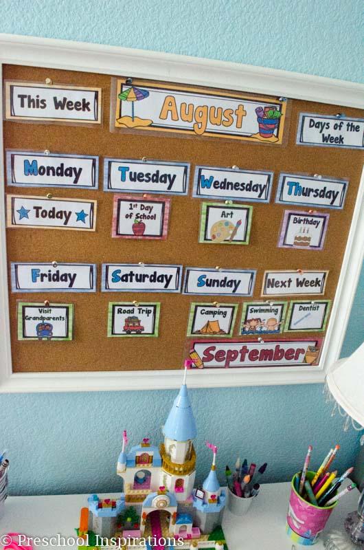 First Home or School Calendar - Preschool Inspirations-2