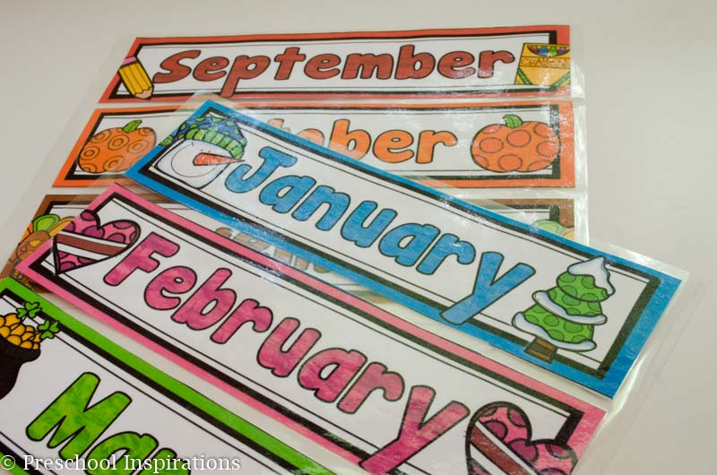 This is a perfect first calendar for home or school. Learn about the days of the week and months of the year in a way designed just for children from preschool through first grade   Preschool Inspirations