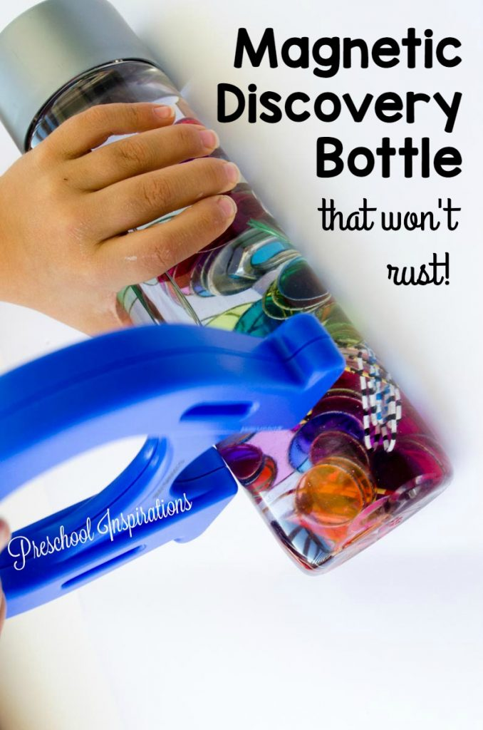 STEM Magnetic Rust-Free Discovery Bottle by Preschool Inspirations