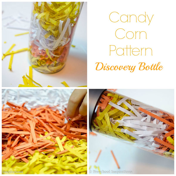 Candy Corn Discovery Bottle - Preschool Inspirations