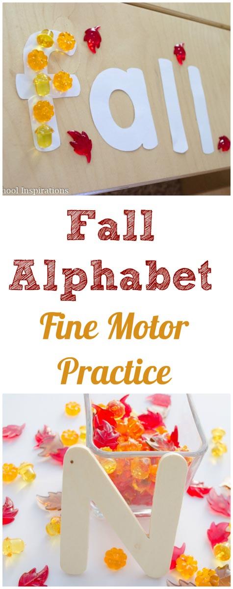 Fall Alphabet Fine Motor Practice #prek #preschool #finemotor #fall #prekideas #alphabetactivities