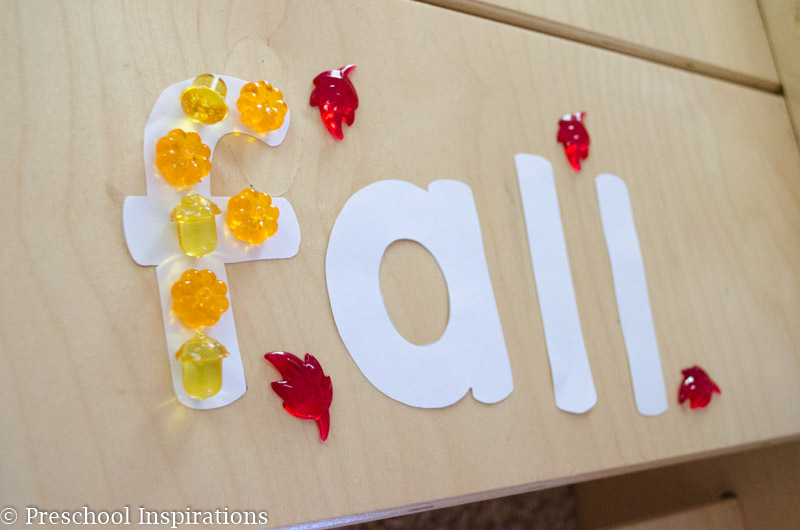 Fall Alphabet Jewel Fine Motor Practice - Preschool Inspirations-13