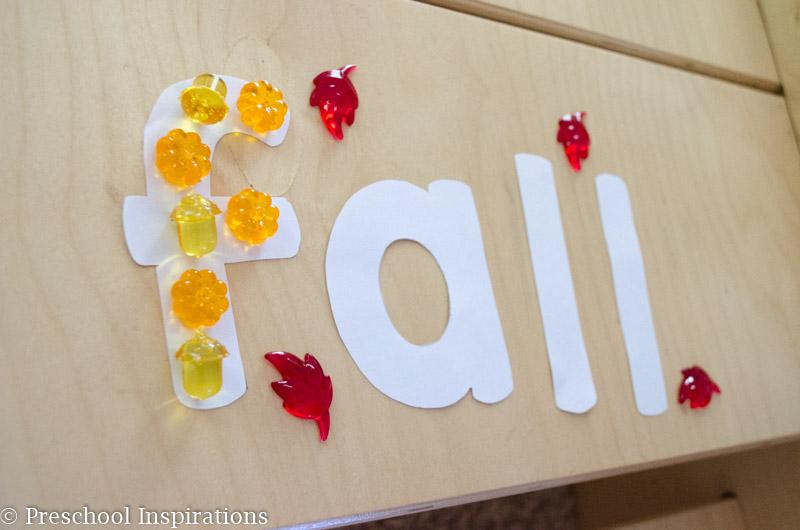 Fall Alphabet Jewel Fine Motor Practice - Preschool Inspirations-13
