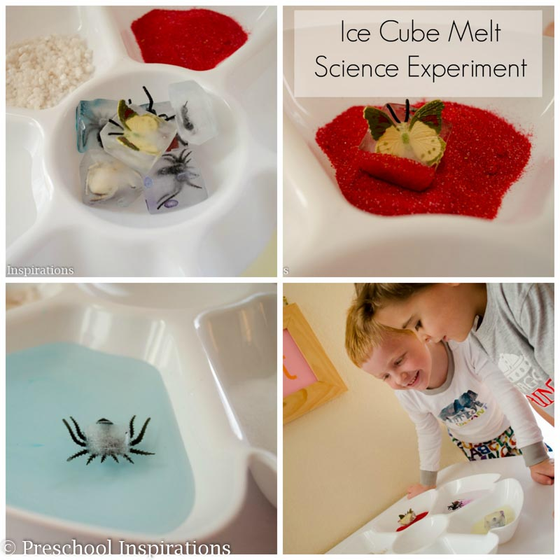 Ice Cube Melt Science Experiment - Preschool Inspirations