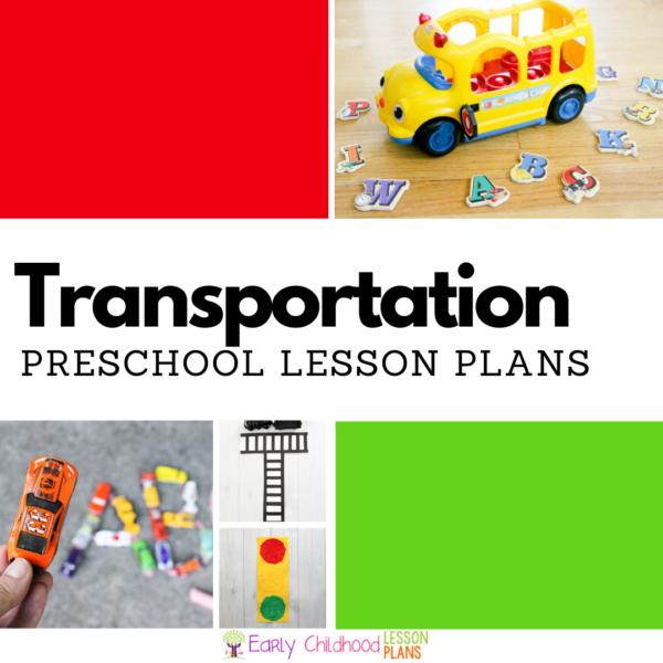 cover image for preschool transportation lesson plans