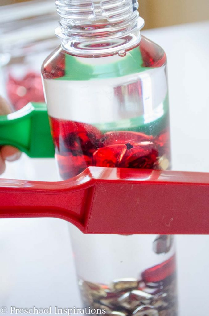 Jingle Bells Magnetic Discovery Bottle by Preschool Inspirations-4
