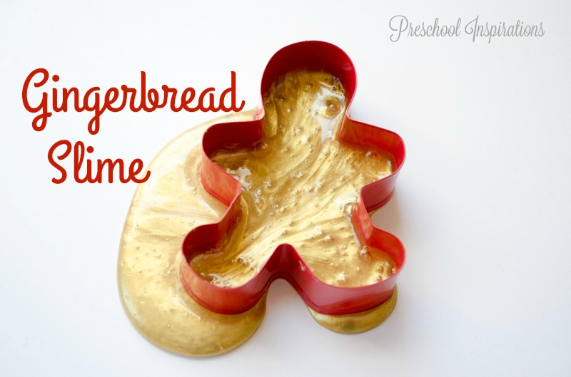 Gingerbread Slime Recipe by Preschool Inspirations