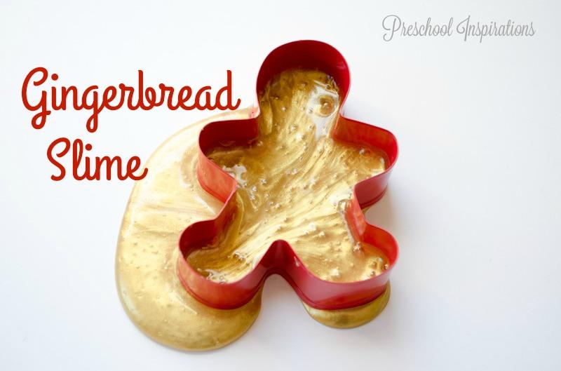 Gingerbread Slime Recipe by Preschool Inspirations