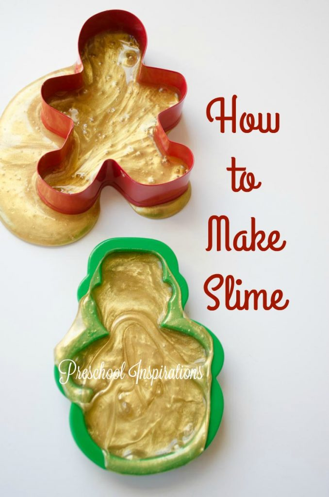 How to Make Gingerbread Slime by Preschool Inspirations #preschool #prek #kindergarten #sensory #slime #diyslime #holidayslime #slimerecipe #christmasactivitiesforkids