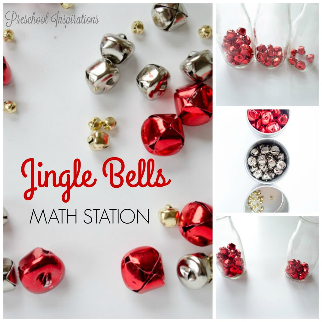 Jingle Bells Christmas Math Station for Children by Preschool Inspirations