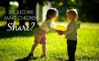 Should we make children share by Preschool Inspirations