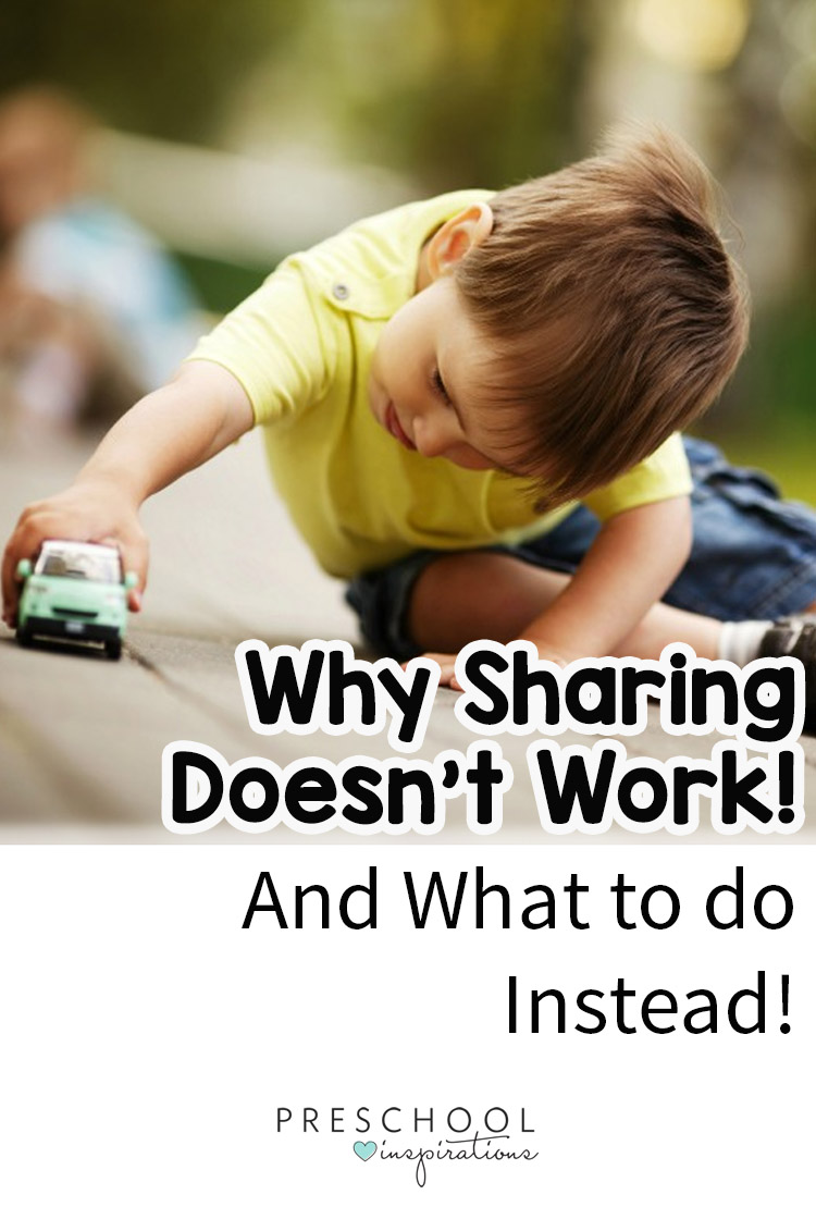 How do we get children to share? Take a look at why sharing doesn't work and what to do instead!