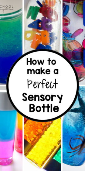 Tips and tricks from a sensory bottle addict! Ideas on how to make a perfect, easy, diy sensory bottle. #preschoolinspirations #sensory #sensorybottle #diy
