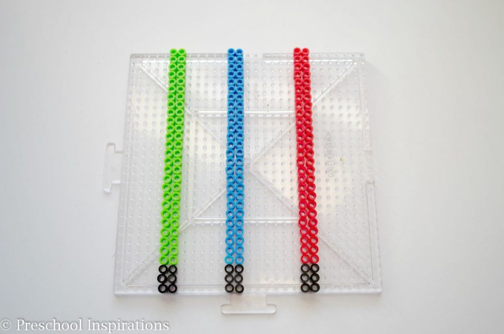 Perler Bead Light Sabers by Preschool Inspirations