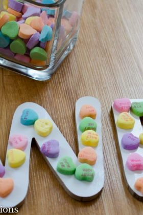 Pre-Writing Alphabet Practice with Conversation Hearts