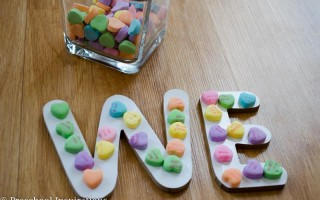 Pre-Writing Alphabet Practice with Conversation Hearts  by Preschool Inspirations-5