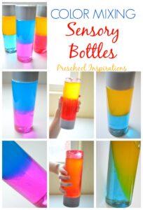 Color Mixing Sensory Bottles