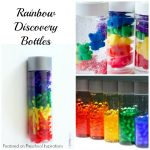 Rainbow Discovery Bottles for play, learning, and fun