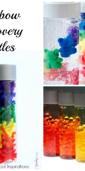 Amazing Rainbow Sensory and Discovery Bottles