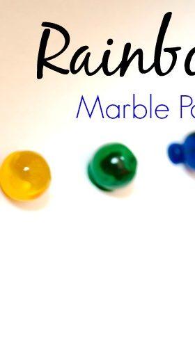Rainbow Marble Painting Process Art