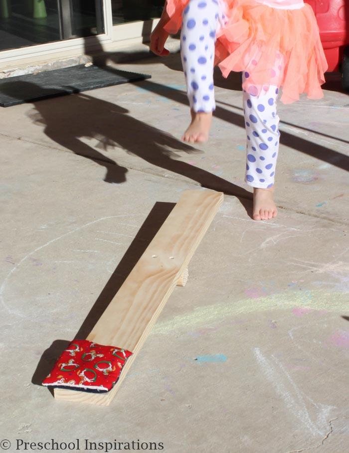DIY Bean Bag Launcher by Preschool Inspirations