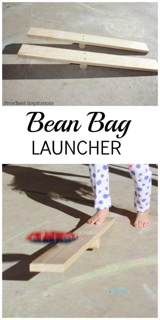 DIY Bean Bag Launcher from Preschool Inspirations