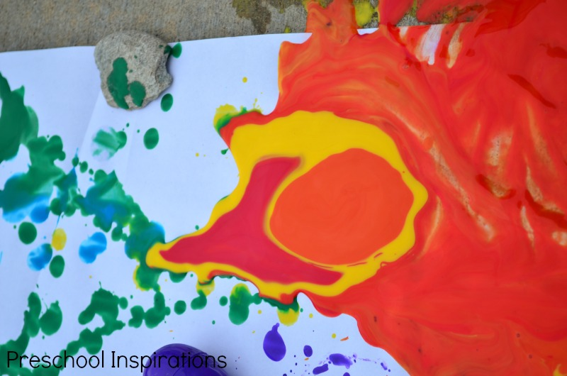 Drip Painting With Easter Eggs