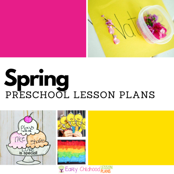 cover image for preschool spring lesson plans