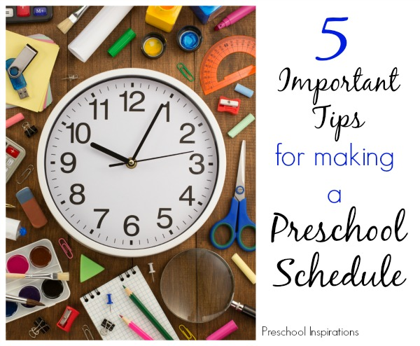 5 Must-Haves for Making a Great Preschool Schedule - Preschool ...