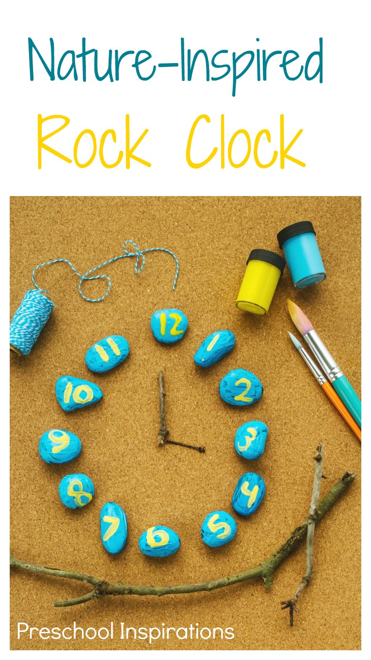 Make your own nature inspired Rock Clock