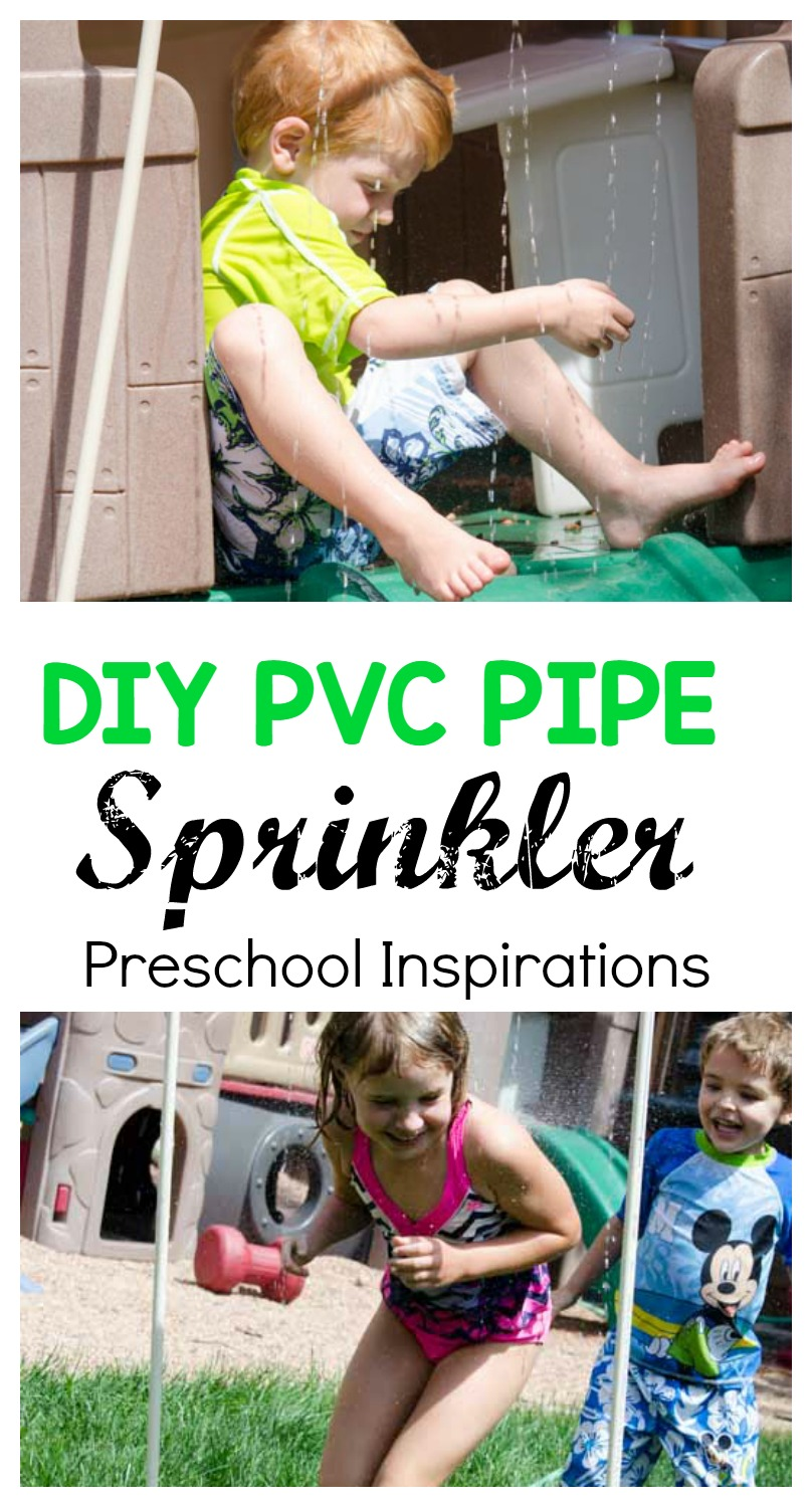 Make your own backyard DIY PVC pipe sprinkler as a great water activity for your own backyard. It's the perfect way to cool off while outside.