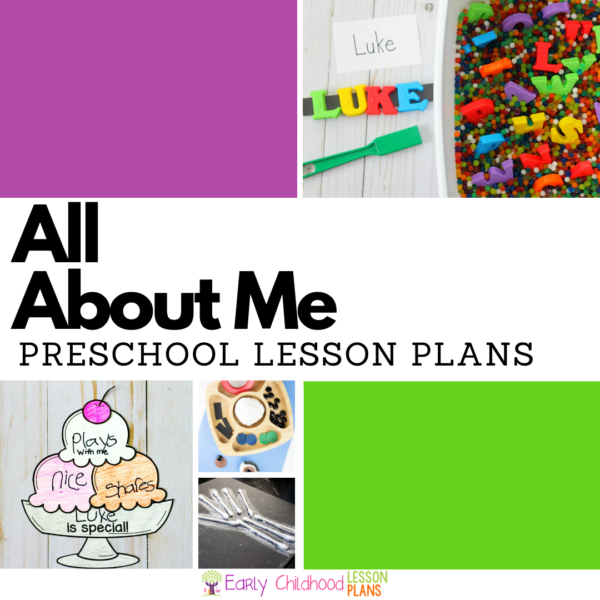 cover image for all about me preschool lesson plans