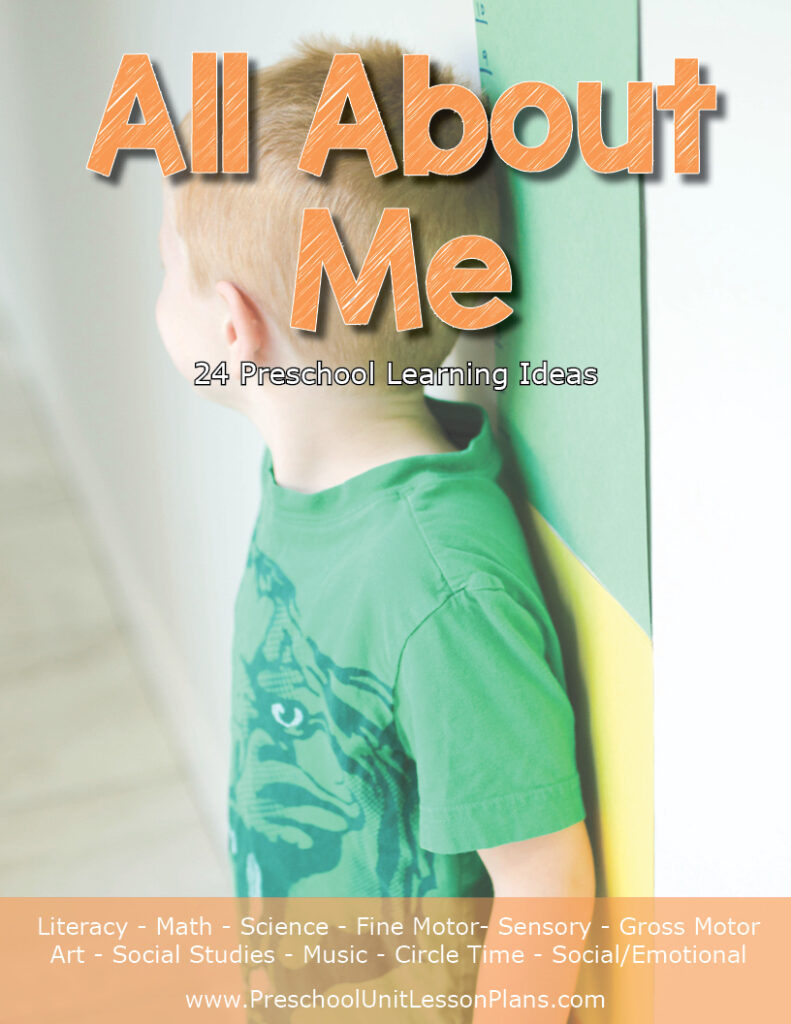 Use themed lesson plans for a preschool curriculum in this All About Me unit.