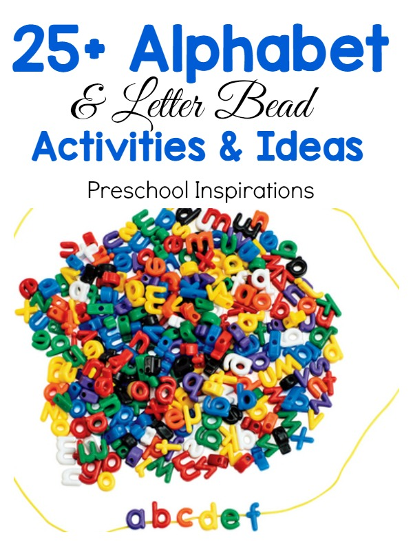 Find 25+ perfect alphabet activities for preschool or kindergarten. These hands-on activities are perfect for learning and exploring the alphabet and literacy. #preschool #kindergarten #finemotor #literacy #alphabet #alphabetbeads #alphabetideas