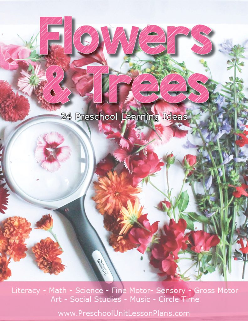 Flowers and Trees lesson plan and curriculu for preschool and pre-k