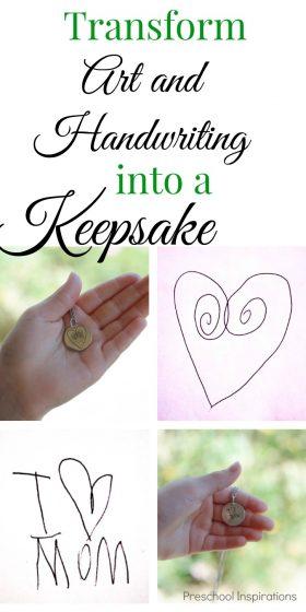 Turn Children's Artwork or Handwriting into Jewelry Keepsake
