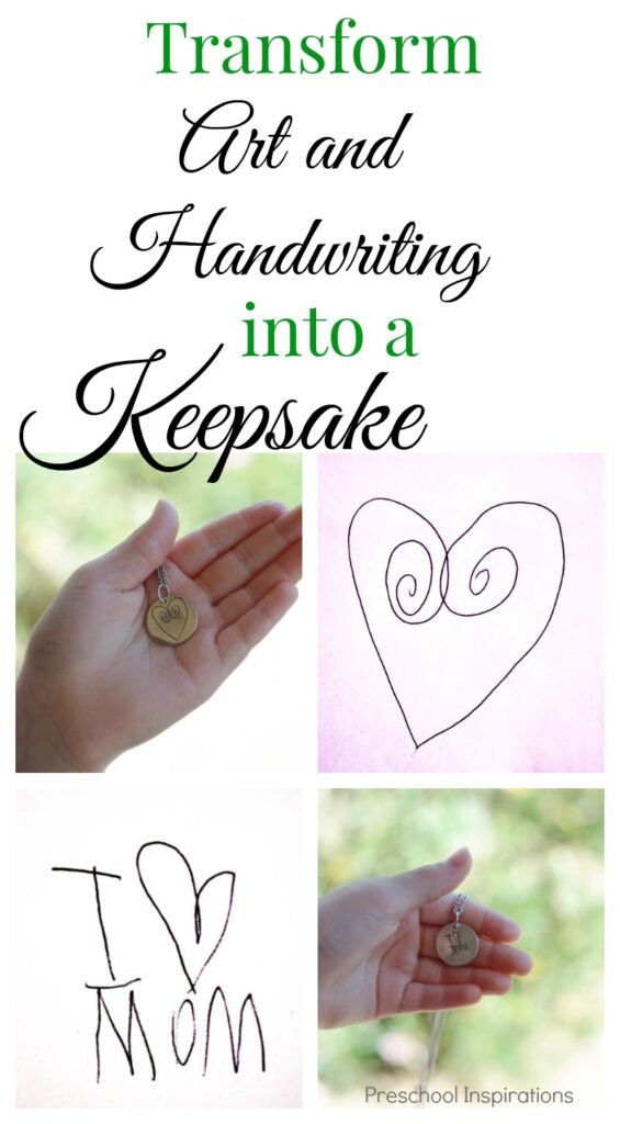 Need an idea for children's art? Turn your child's masterpiece into a keepsake! Transform your child's art or handwriting into jewelry.