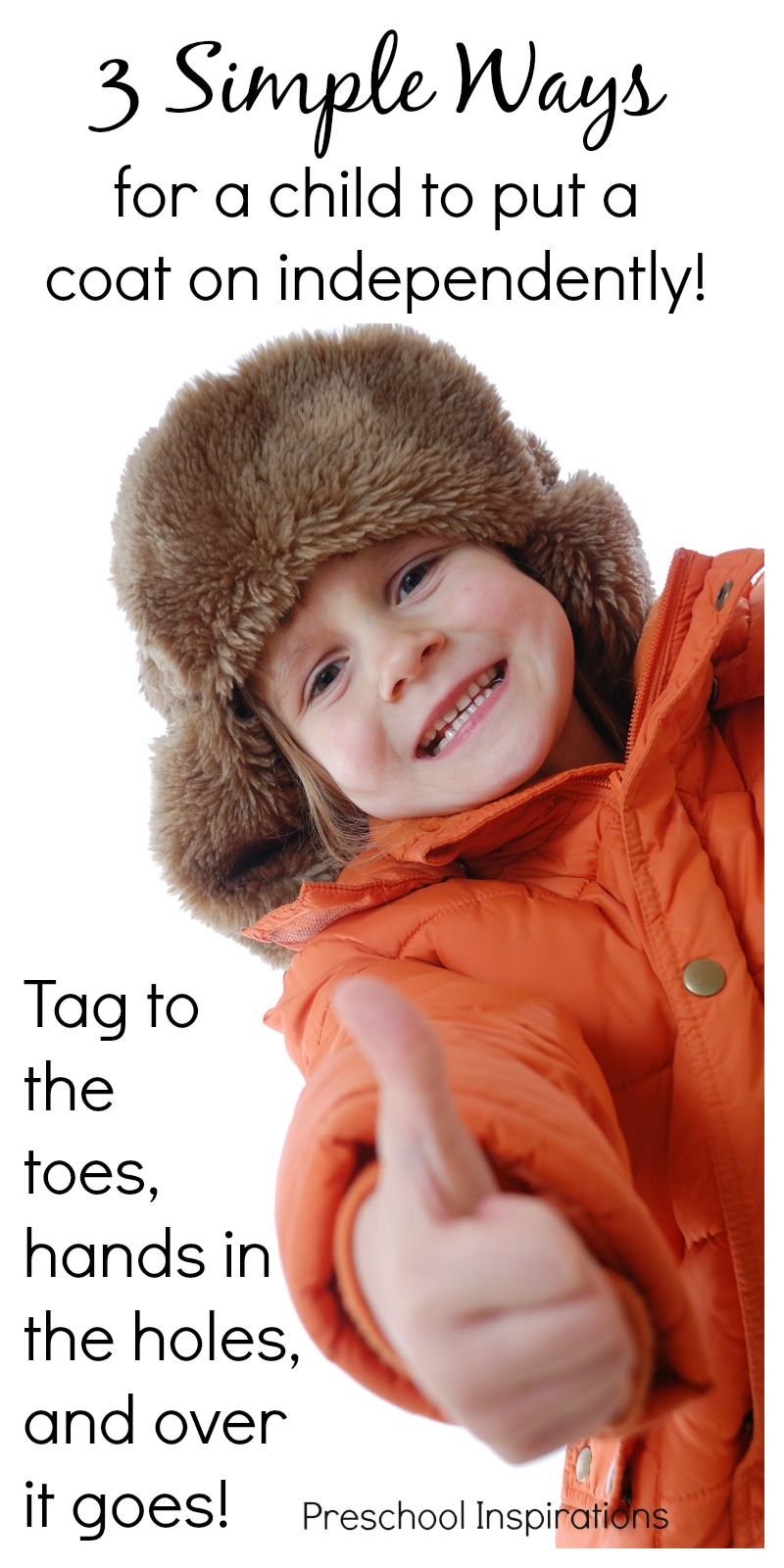 38e34cb3 3 Simple Ways for Children to Put Coats On - Preschool Inspirations