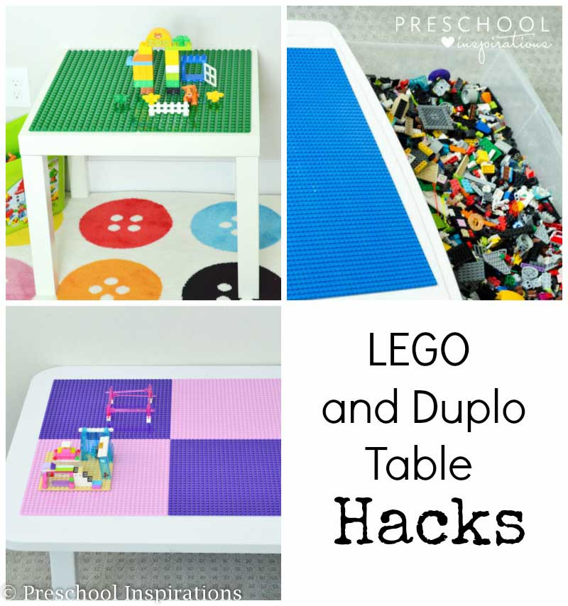 Lego tables are perfect for Lego storage and organization! Make a Lego table or Duplo table. We even made an under the bed Lego storage container.