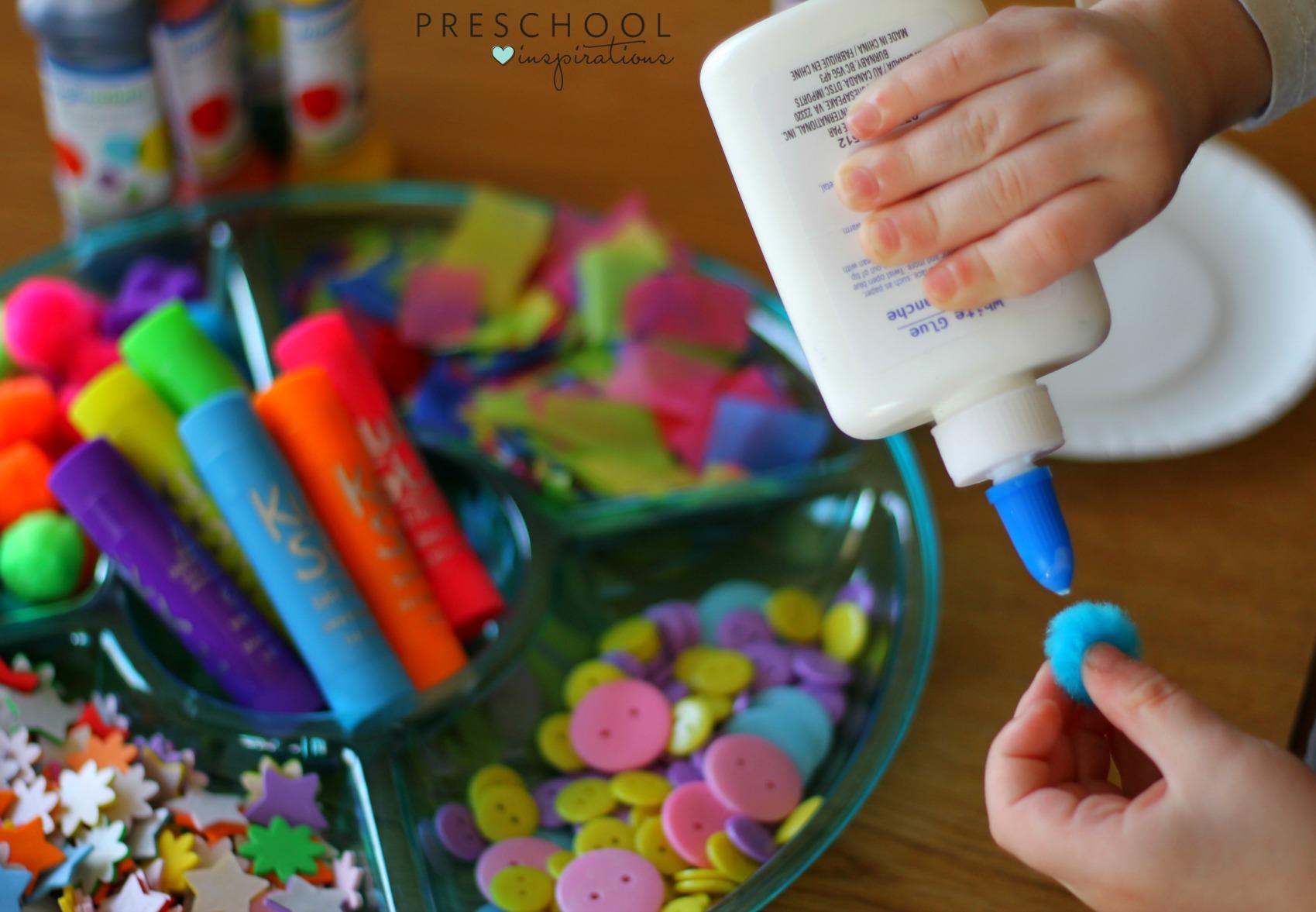 Hot Air Balloon Process Art Activity Preschool Inspirations