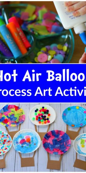 Hot Air Balloon Process Art Activity