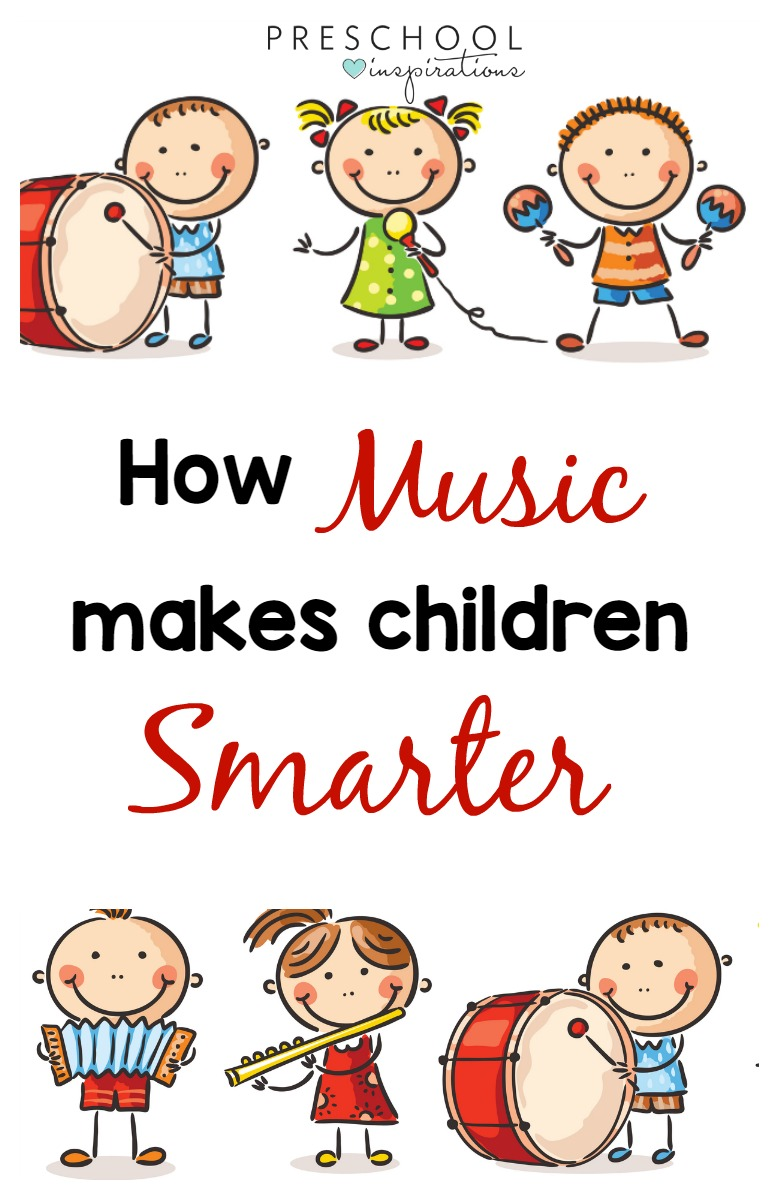 The benefits of music are in credible for children. Music makes children smarter, and it can also change a child's brain. #toddlers #preschool #kindergarten #songsforkids #music #musicandmovement #songs #musictheme