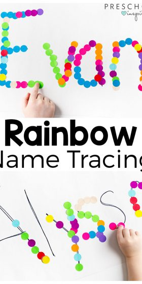 Rainbow Name Tracing Activity