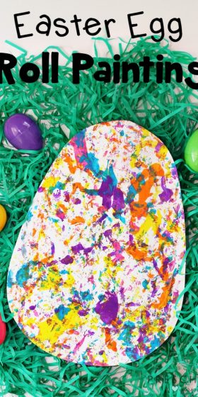 Fun and Simple Easter Egg Roll Painting